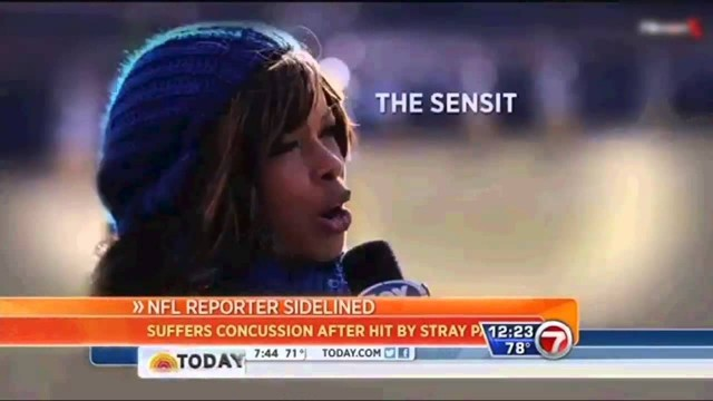 Pam Oliver suffered concussion when hit in head by football