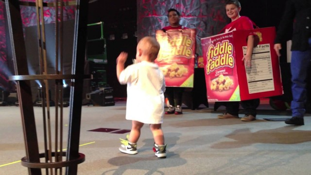 Adorable Baby Crashes Daddy's Concert