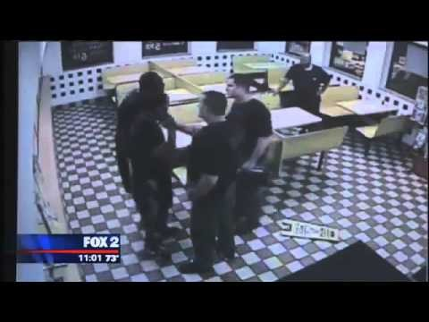 Fighting Police Officers Lucky to Be Alive