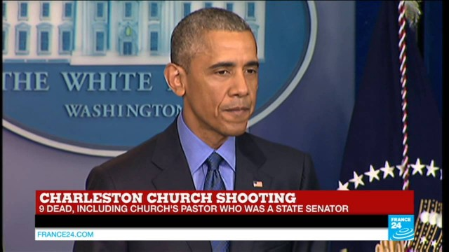 Charleston church shooting – Barack Obama: 'I've had to make statements like this too many times'