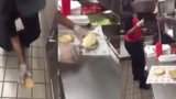 Just Foul: Checkers Employee Makes A Burger After Wiping Bun On The Floor!
